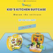 Techhark Kids Dream Kitchen Cooking Suitcase Set